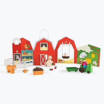 Sago Mini, Robin'S Farm, Portable Playset with Figures, for Ages 3 & Up, Multicolor: Toys & Games