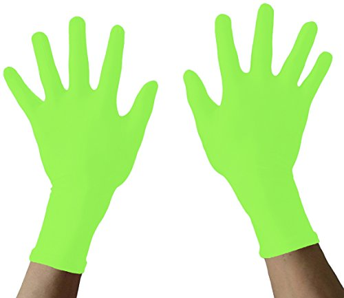 Seeksmile Adult Lycra Spandex Gloves Many Colors Available (Free Size, lime green)