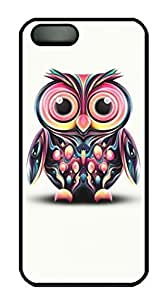 good Colorful Owl Pattern Design for Iphone 4s case cover in PC Black Material LTSFdK8FDWO