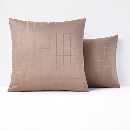 Satin Coverlet Squares (La Redoute Interieurs Cotton Satin Pillowcase Brown Size Square (63 X 63Cm))