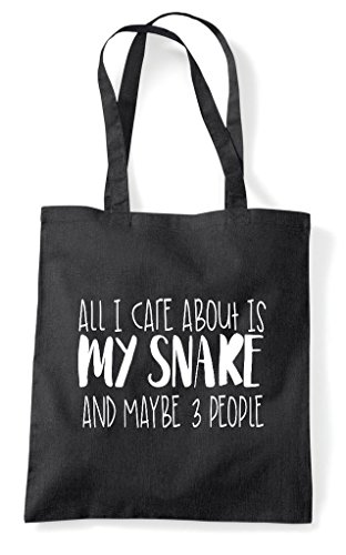Animal Shopper Themed Tote I About Funny Bag Cute Maybe Black People All Care Snake My Is Three And a7pxwOq