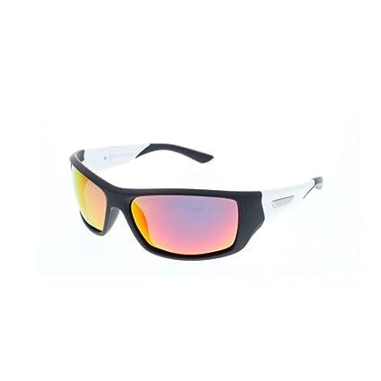 H.I.S gafas de sol polarizadas deporte HP 57102, gris/blanco, vidrios rojos verdes