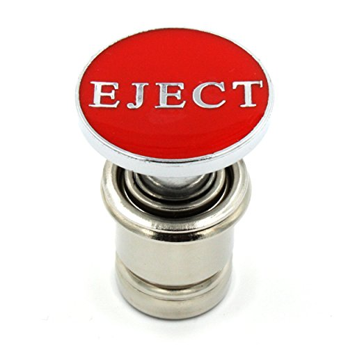 Kei Project Red Eject Ejection Seat Push Button Car Power Plug Cigerette Lighter 12-volt Accessory Fits Most Vehicles
