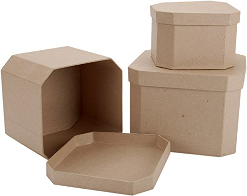 DCC Crafts Paper Mache 3-Box Set: French Corner Square ()