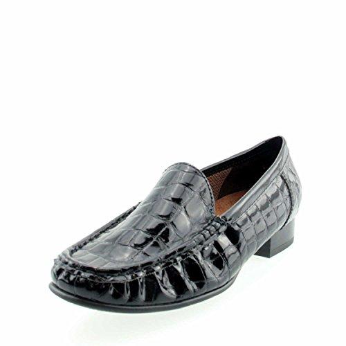 Jenny 50137-01 Black Patent Croc Loafer Shoe Black d9xQvTj