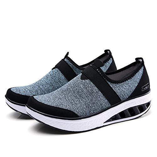 Traspiranti Casual Leggera All aperto Confortevole Da Ysfu Ammortizzazione  In Scarpe Sneaker Pizzo Donna Basse ... 69adac973b8