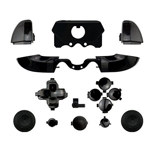 Matte ABXY Dpad Triggers Full Buttons Set Mod Kits for XBox One Elite Controller (Black)