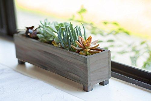 Redwood Succulent Trough Window Box Planter (Redwood Succulent Window Box Planter 5 ()