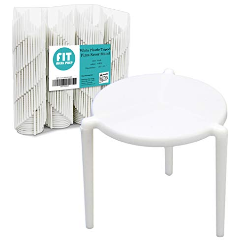 [200 Pack] Pizza Saver Stand - White Plastic Tripod Stack/STAX for Restaurant Container, Catering Boxes and Food Take Out -