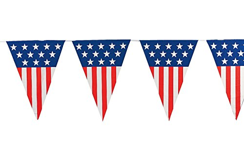 4th Of July Banners (Fun Express Patriotic Pennant Banner)