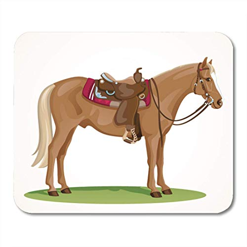 - Mouse Pad Western Horse Saddle and Bridle Sorrel American Quarter Standing Mousepad for Notebooks,Desktop Computers Mouse Mats, Office Supplies