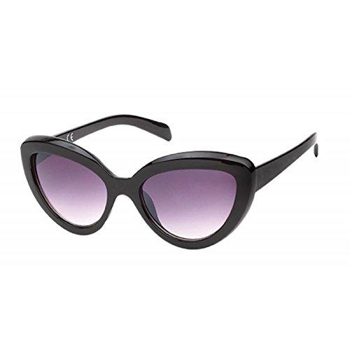 Cateye ojo Net UV Gafas Morado de sol del de gafas gruesas Chic clásico 400 gato dxaqICnq
