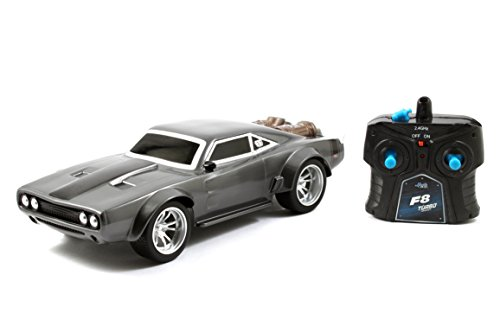 Jada Toys 98308 Fast & Furious F8 Doom's Ice Charger Arc/Radio Control Toy Vehicle- Ready to Run, 1: 16 Scale, Grey ()
