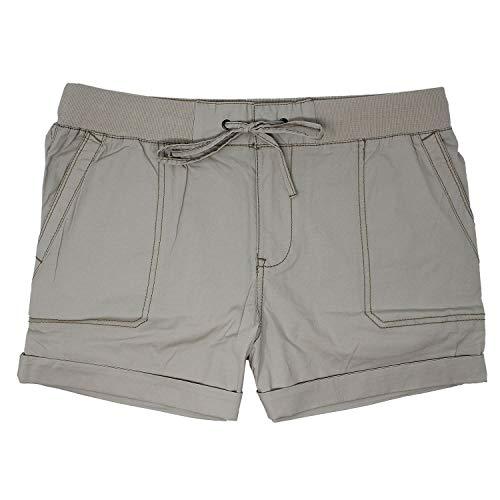 Khakis & Company Women's Stretch Convertible Short (16, Sand)
