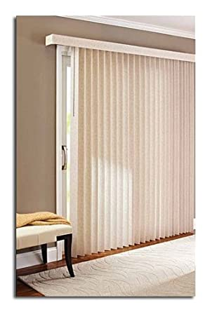 78 X 84 Light Control Durable PVC, Vertical Textured S Slat Privacy Blinds,