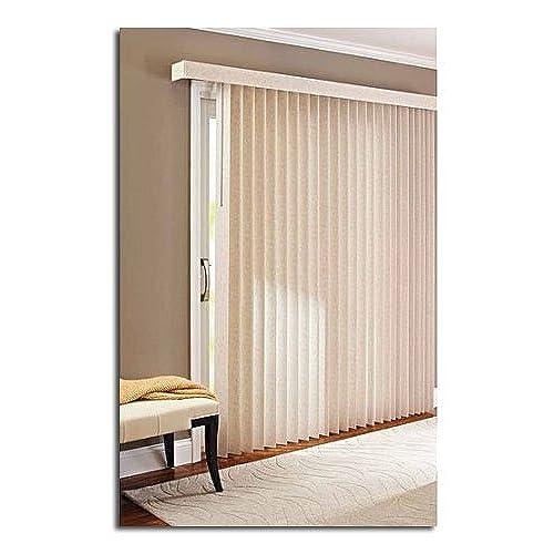 Ordinaire 78 X 84 Light Control Durable PVC, Vertical Textured S Slat Privacy Blinds,  Beige
