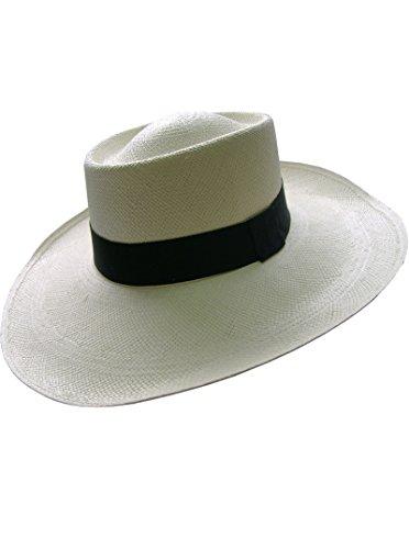 Gamboa Unisex Panama Hat Wide Brim Sun Hat UPF 50 Straw Hat
