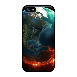 TYH - High-end Case Cover Protector For Iphone 5C(earth On Fire) phone case