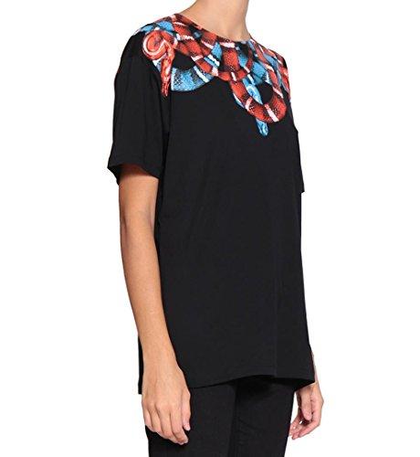 MARCELO BURLON T-Shirt Banmek Nero CWAA016F17047263