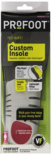 8 Pair Appliance (PROFOOT Custom Insole with Vita-Foam, Women's 6-10, 1 Pair by Profoot)