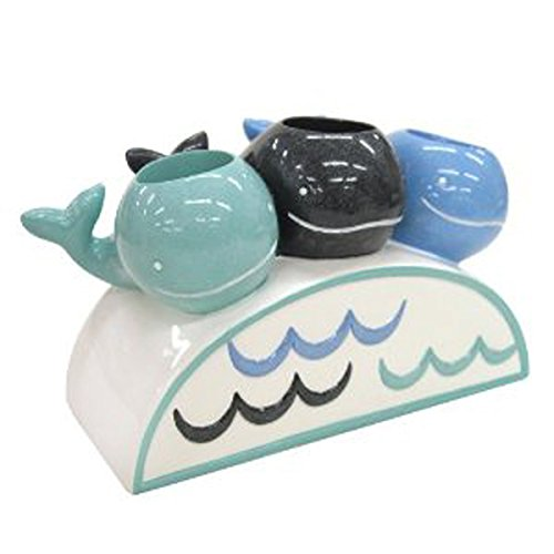 Allure Home Creations Whale Watch Resin Toothbrush Holder (Resin Holder Toothbrush)