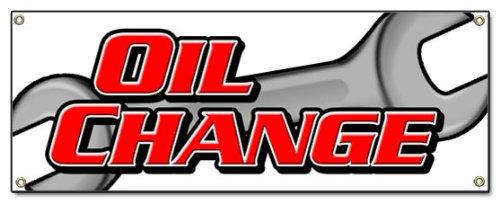 Oil Change Banner Sign Car Transmission Engine Auto Repair ()