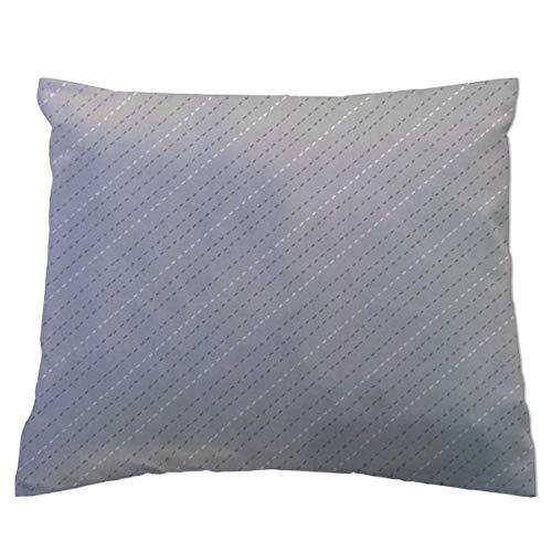 (SheetWorld Twin Pillow Case, 100% Cotton Woven 20 x 26, Diagonal Stripe Gray, Made in USA)