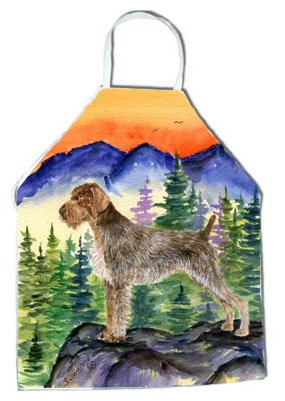 Caroline's Treasures SS8226APRON German Wirehaired Pointer Apron, Large, Multicolor