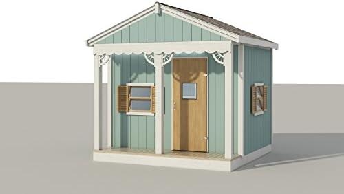 Cobertizo de almacenamiento para niños de 8 x 8 pies: Amazon.es: Bricolaje y herramientas