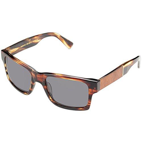 Shwood - Haystack Acetate, Bold and Confident, Tortoise/Mahogany Burl, Grey - Sunglasses Womens Mahogany
