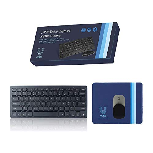 2.4GHz Wireless Keyboard and Mouse with Mouse-Pad-Great for Raspberry Pi