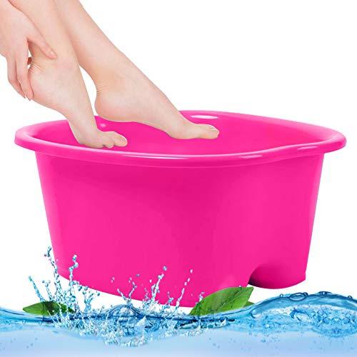 Foot Bath Tub Foot Soaking Bath Basin Foot Spa Bucket Large Sturdy Plastic Pedicure Spa and Massager for Soaking Feet Pedicure and Massager pink