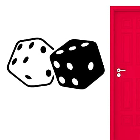 Cartel 3d Pegatinas de Pared Cubos Dados Juego Suerte Casino ...