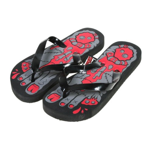 Monster Zombie Feet Women's Flip Flops from Sourpuss Clothing - Size Medium (US Size 7) (Zombie Women)