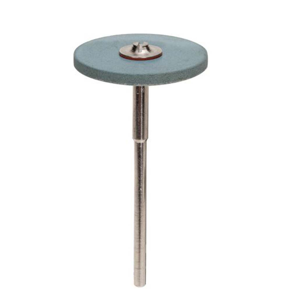 Edenta Blue Diamond Medium Polish Round Flat Edge Wheel 25 x 2mm