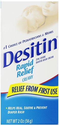 Desitin Rapid Relief crémeux Oxyde de Zinc Crème pour érythème fessier 2 oz (Pack de 2)