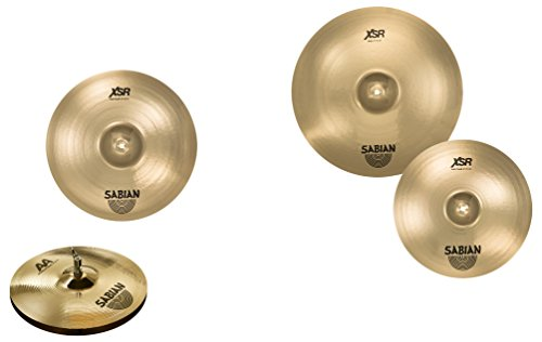 Sabian XSR Sonic Pro Perfect Cymbal Pack with upgrade AA Medium Hats (Amazon (Pro 4 Cymbal Pack)