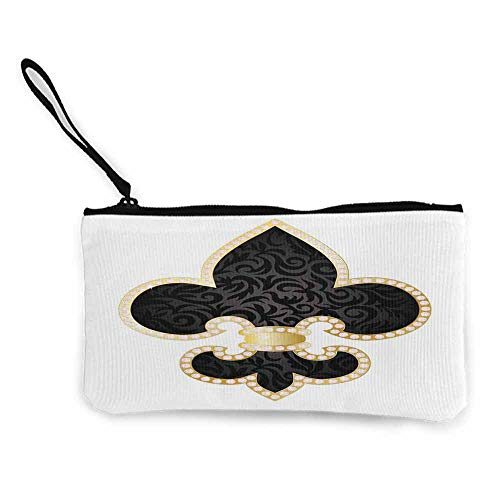 Fleur De Lis,Coin Pouch Royal Legend Lily Throne France Empire Family Insignia of Knights Image W 8.5