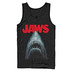 You're going to need a bigger boat for the Jaws Shark Teeth Poster T-Shirt. The most terrifying great white shark in the ocean bares its teeth on this famous movie poster style Jaws tee.