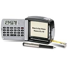 Brett Tape Measure, Calculator, Flashlight, Pen, and Notepad Multi-tool - 3 Inch