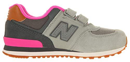 Nhy Strappo Scarpe Grigio Balance New Kg574 Rosa Sneakers Bambina q74FCUwa