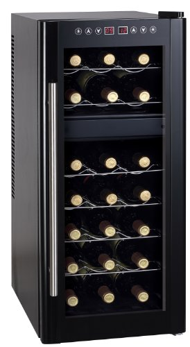 Dual Zone Thermo Electric Cooler Heating 21 Bottles