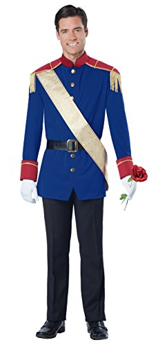Men's Storybook Prince Costume, Blue/Red, Medium ()