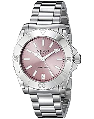 Dive Analog Display Swiss Quartz Silver Women's Watch(Model:YA136401)