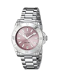 Gucci Women's YA136401 Dive Analog Display Swiss Quartz Silver Watch