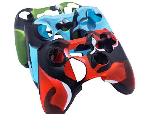 BRH-Cool-Silicone-Protector-Cover-Case-Anti-slip-Soft-Comfort-for-Xbox-360-Controller-Skin-Camo-3-Colors-Package