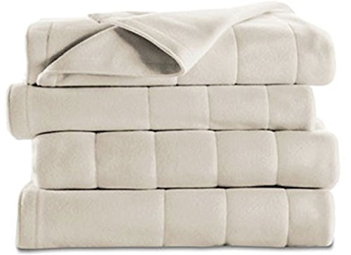 Buy #1 Selling Sunbeam Electric Blanket - Extra Soft Fleece Heated Blanket - KING - With 2 Controls-...