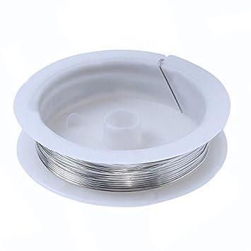 1 Rolle 0,3 MM Kupfer Handwerk Perlen Schmuck Silber Draht: Amazon ...