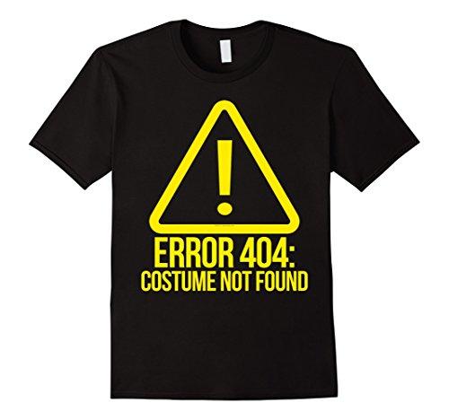 [Men's Error 404 Costume Not Found Funny Geek Halloween T-Shirt 2XL Black] (Costume Not Found 404)