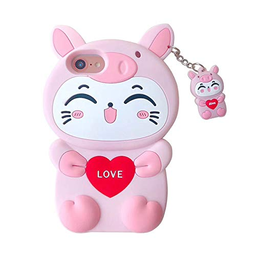 Amazon com: Xiaomi Redmi S2 Pig Cat Phone Case,3D Cartoon